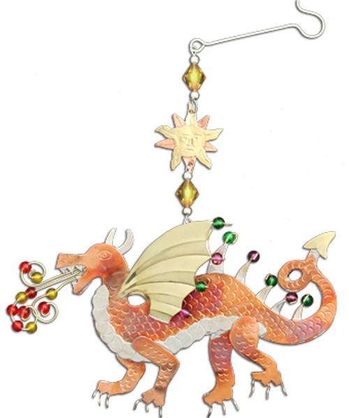 Handmade Metal Ornament Fire Dragon