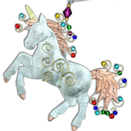 Handmade Metal Ornament Unicorn