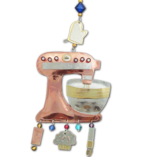 Handmade Metal Ornament Food Mixer