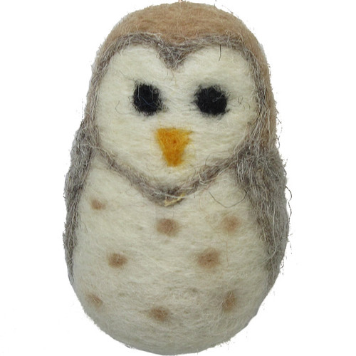 Felted Wool Ornament Owl