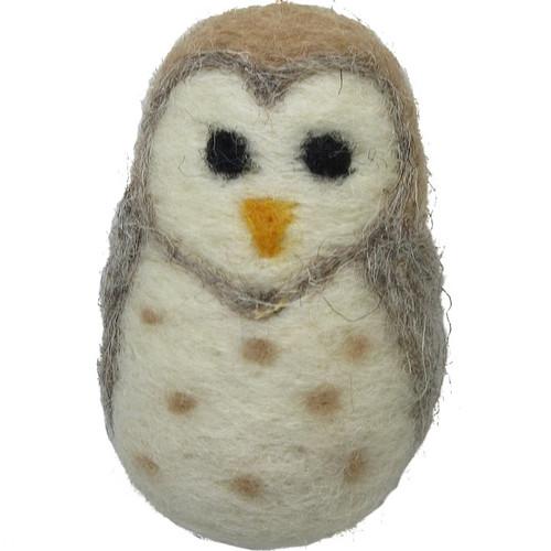 Felted Wool Ornament Owl
