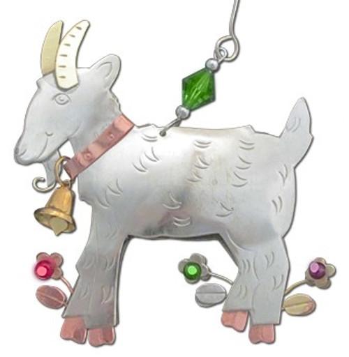 Handmade Metal Ornament Billy Goat