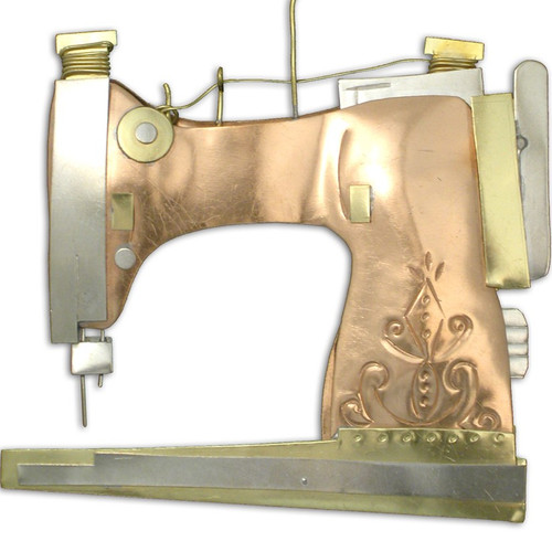 Handmade Metal Ornament Sewing Machine