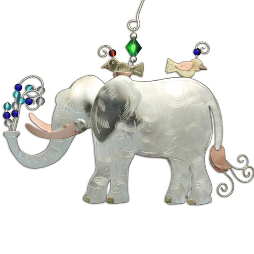 Handmade Metal Ornament Elephant