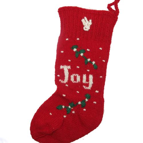 Wool Knit Christmas Stocking Nepal Joy 1