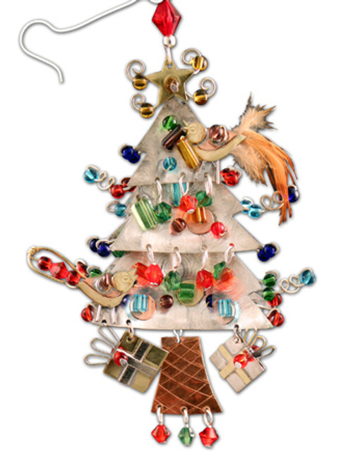 Handmade Metal Ornament Yuletide Tree