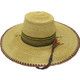 """African Straw Hat with Chin Strap #85-Fits 21 1/2""""-22 1/2"""" Head"""