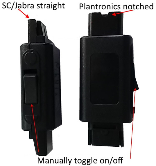 Headset cord in-line mute switch