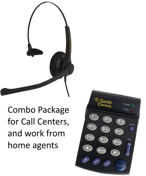 Voicelync headset with dial pad. Full feature controls perfect for work at home agents.