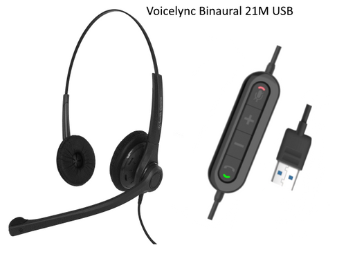Voicelync Binaural with 21M USB adapter cord