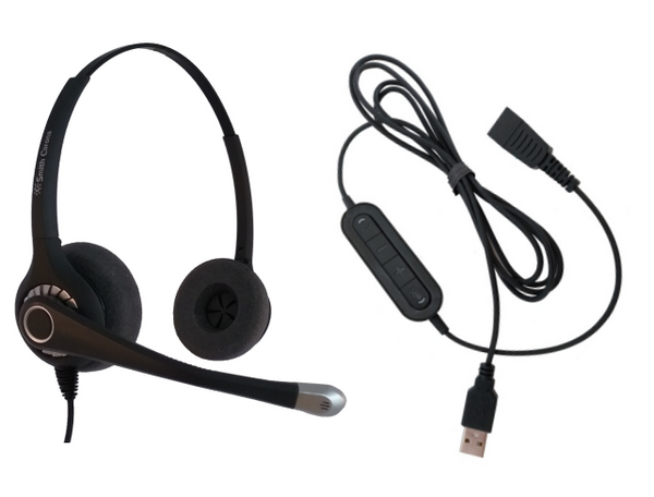 Ultra Binaural with QD and 21M USB Adapter