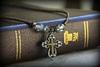 IN-627 Colorado Topaz Beaded Cross Necklace