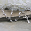 CJ-390  First Communion Rosary shipped boxed
