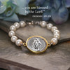 IN-753  Mary and Pearls Bracelet
