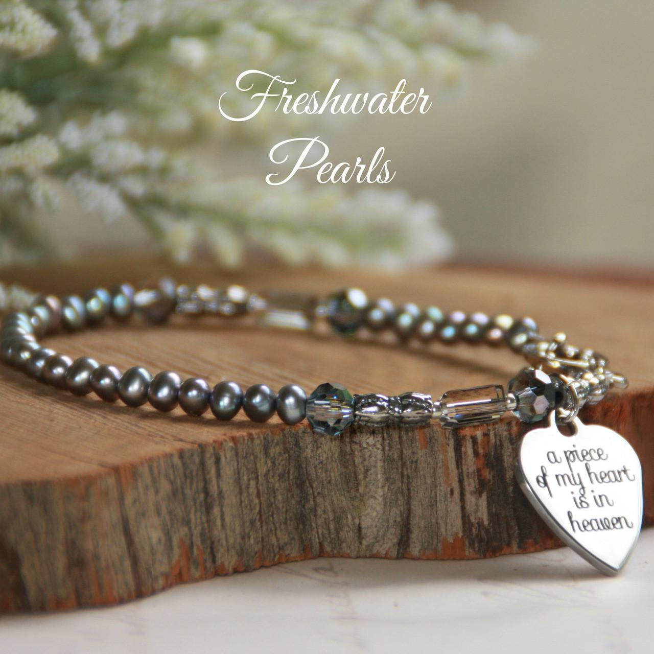 IN-188  A piece of my Heart is in Heaven Bracelet