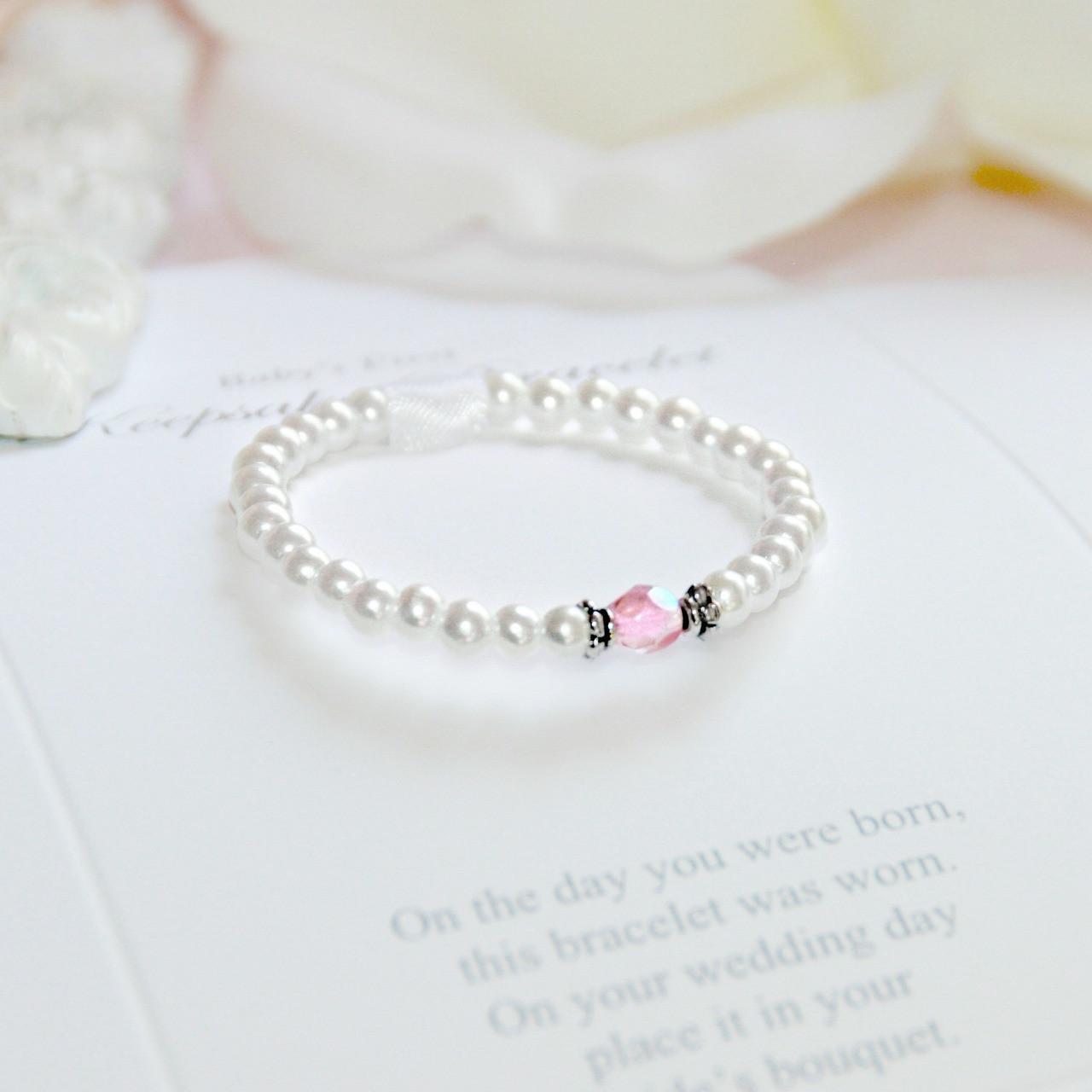 CJ-533 First Bracelet/Bride Keepsake Infant First Bracelet-Top Seller