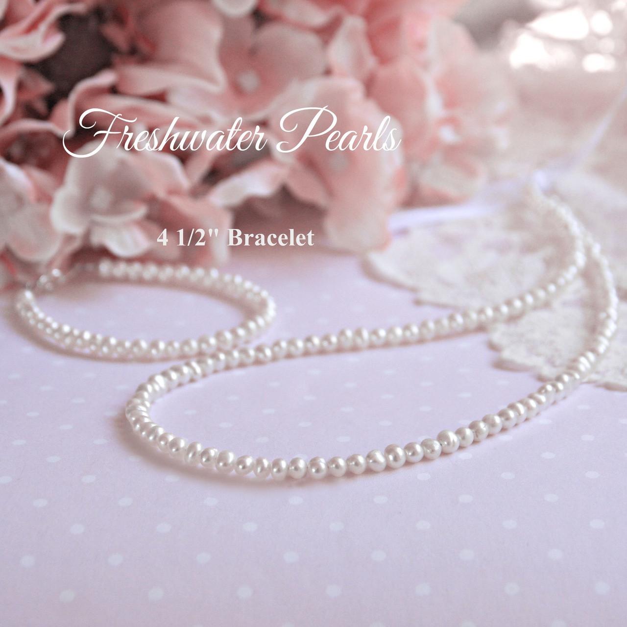 """STG-111  41/2"""" Infant Freshwater Pearls Bracelet"""