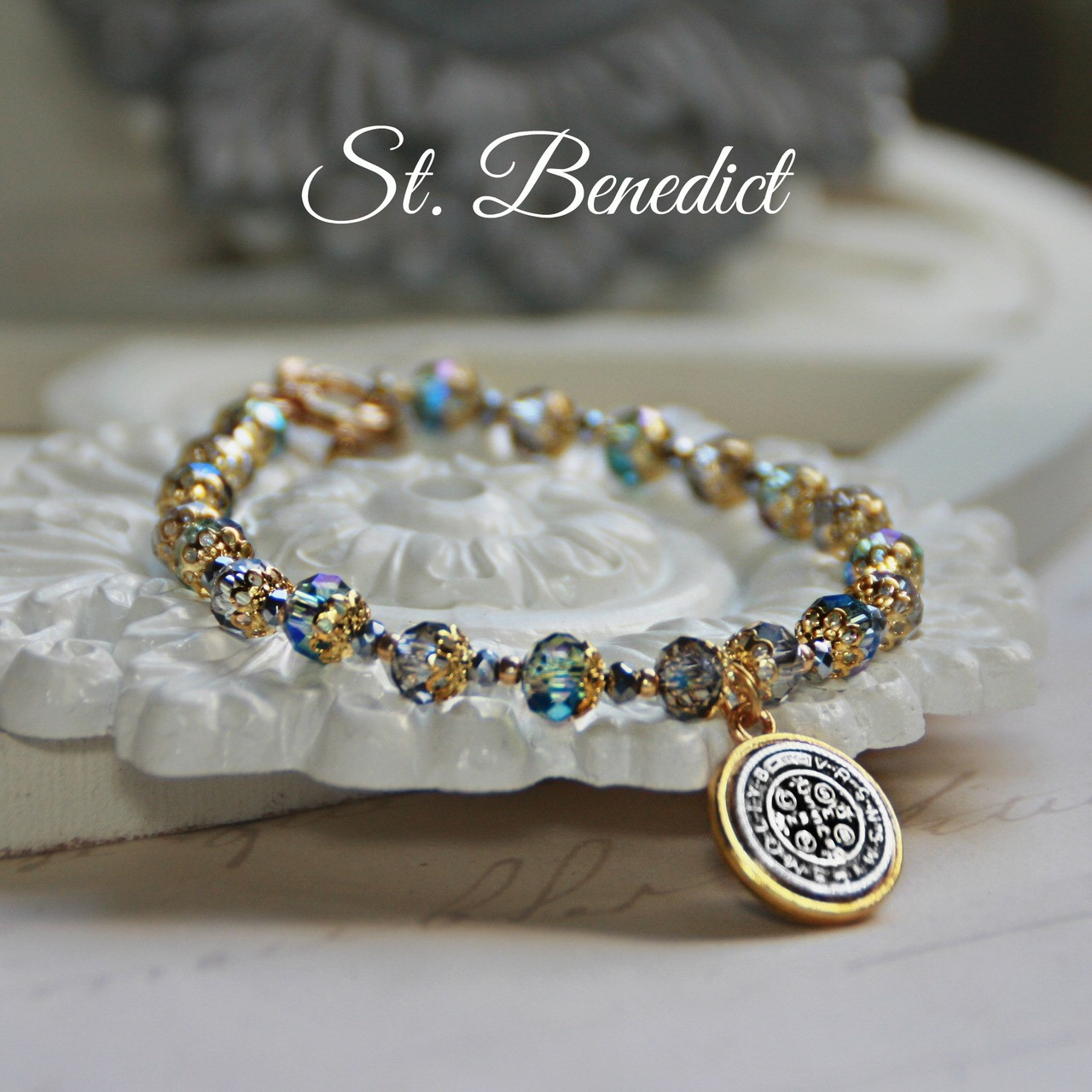 IN-203  Stunning New St. Benedict Bracelet for Everyone!