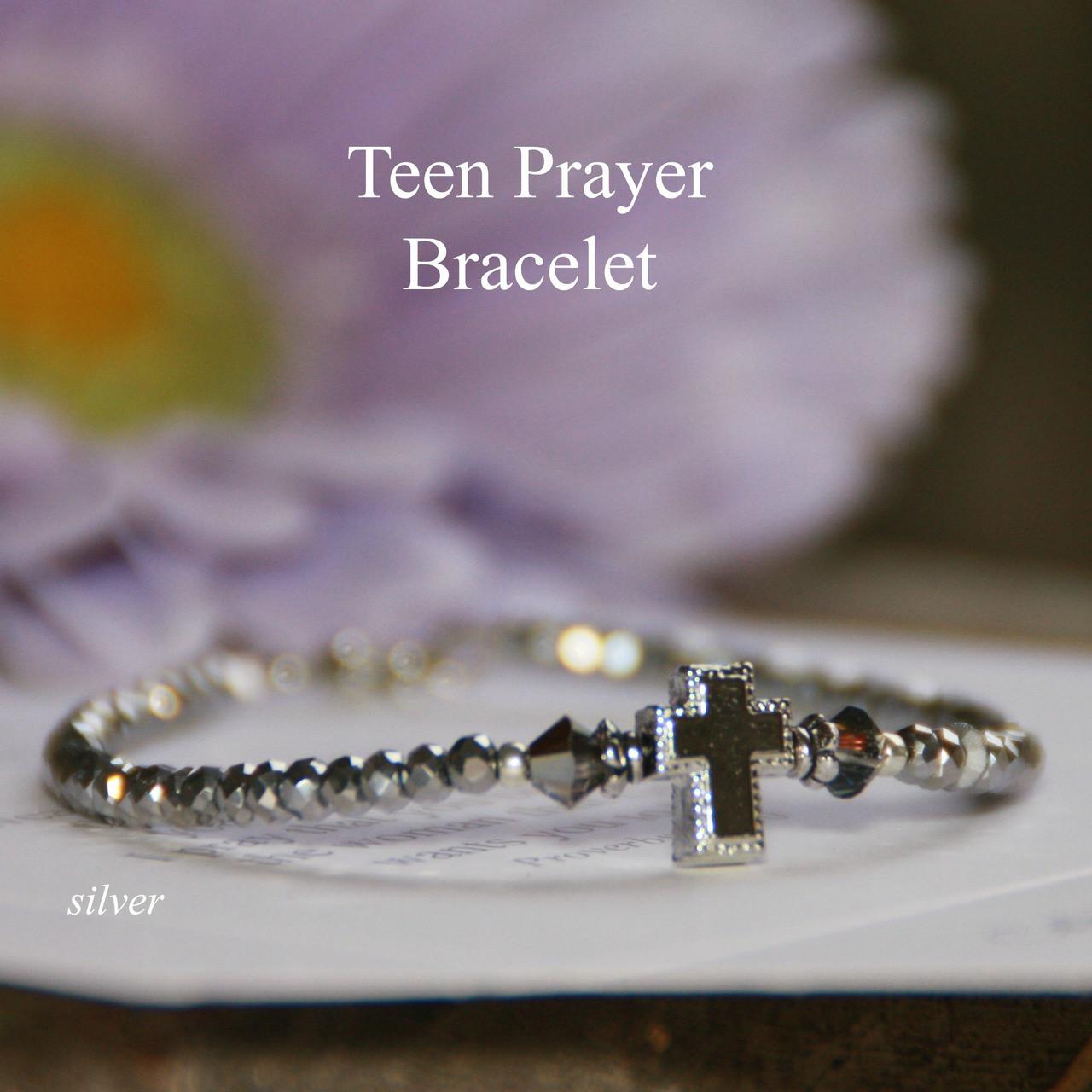 TN-5  Teen Prayer Bracelet-Silver