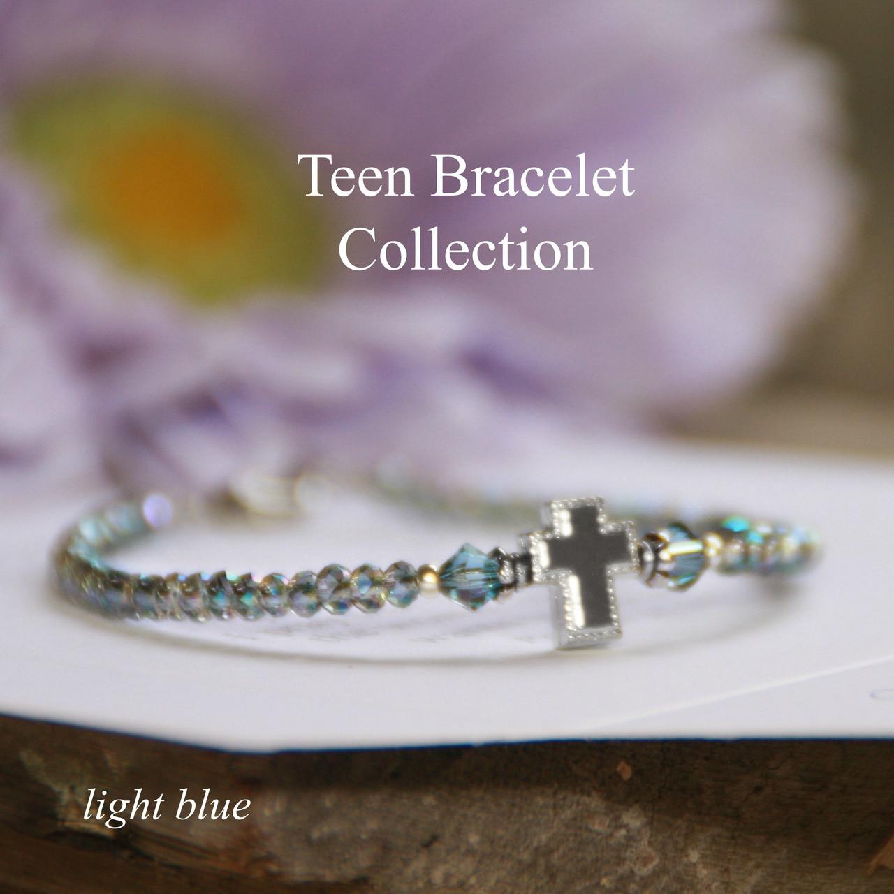 TN-3  Teen Prayer Bracelet-Blue