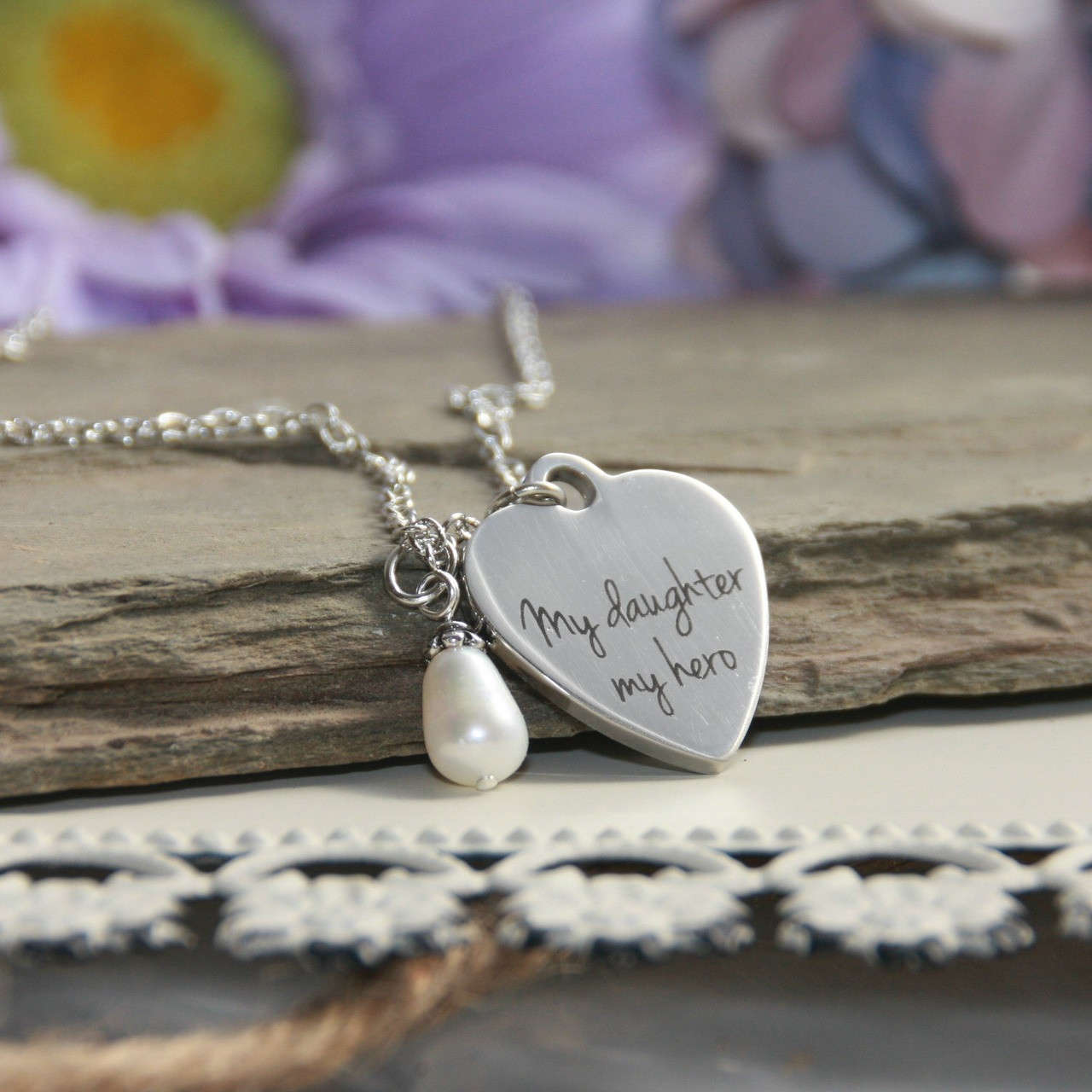 IN-580  My Daughter My Hero Necklace