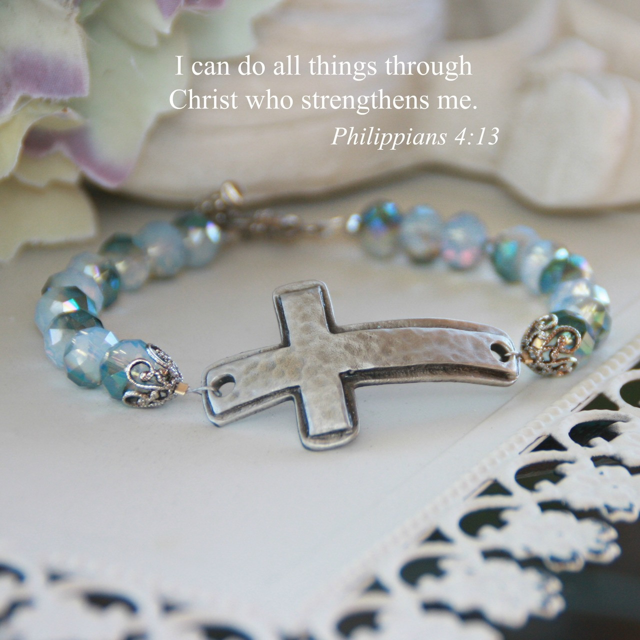 IN-229  Oh La La Stylish Cross Bracelet is one of My Favorites! I can do All Things