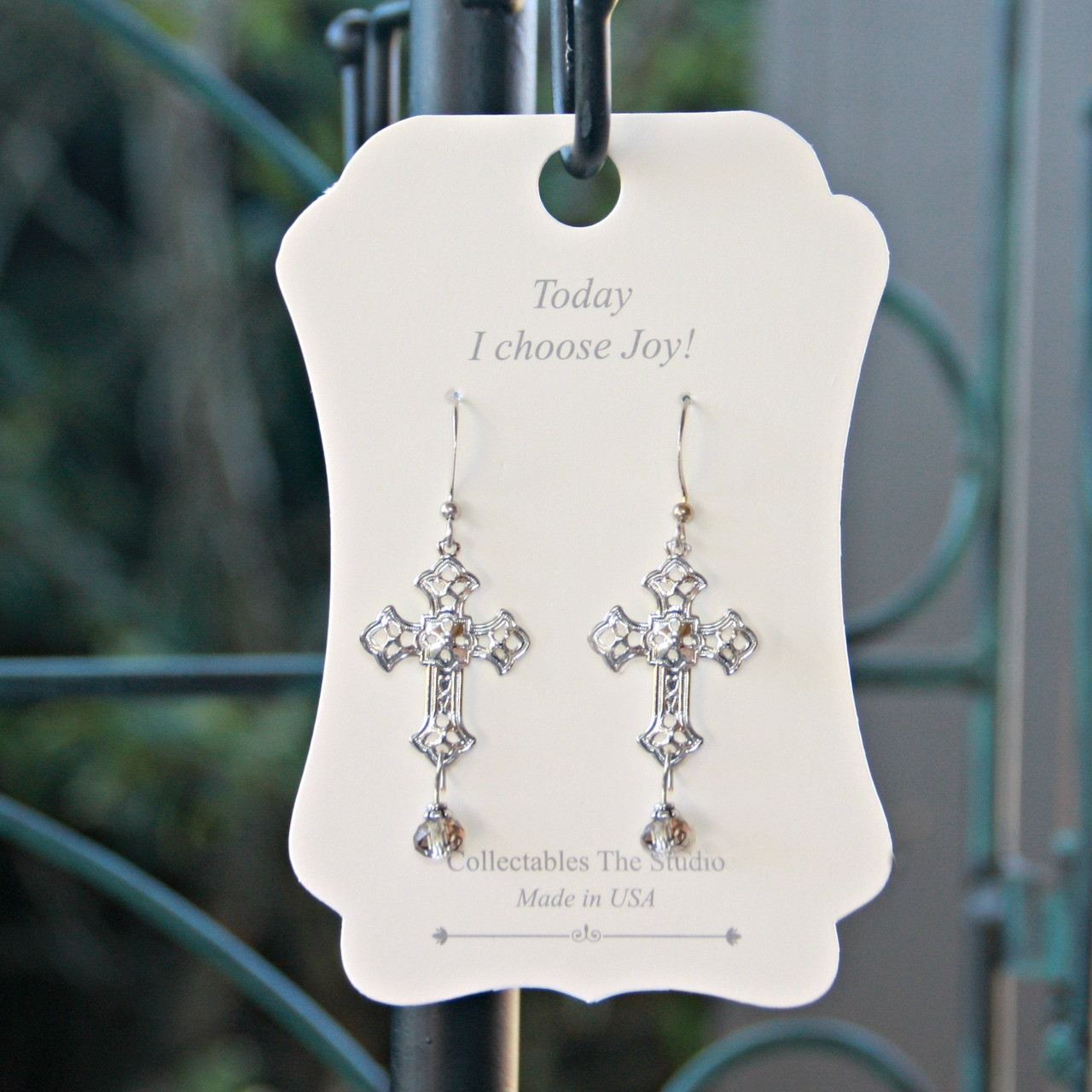FER-410  Today I choose Joy Message Earrings