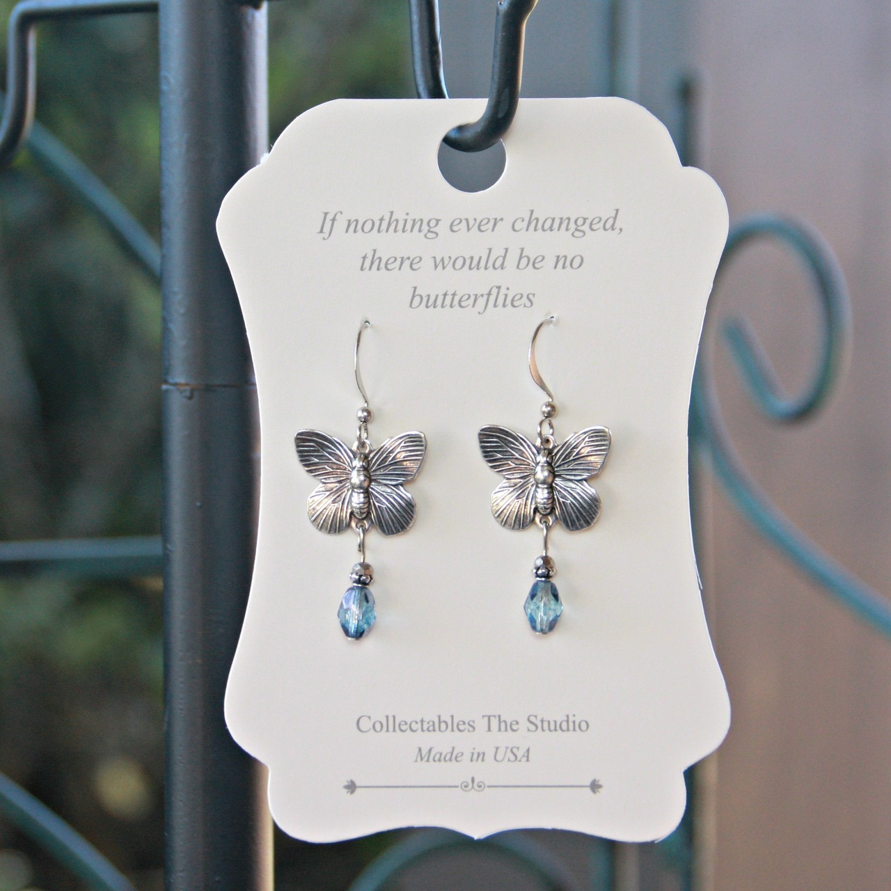FER-406  If nothing ever changed there would be no Butterflies Earrings