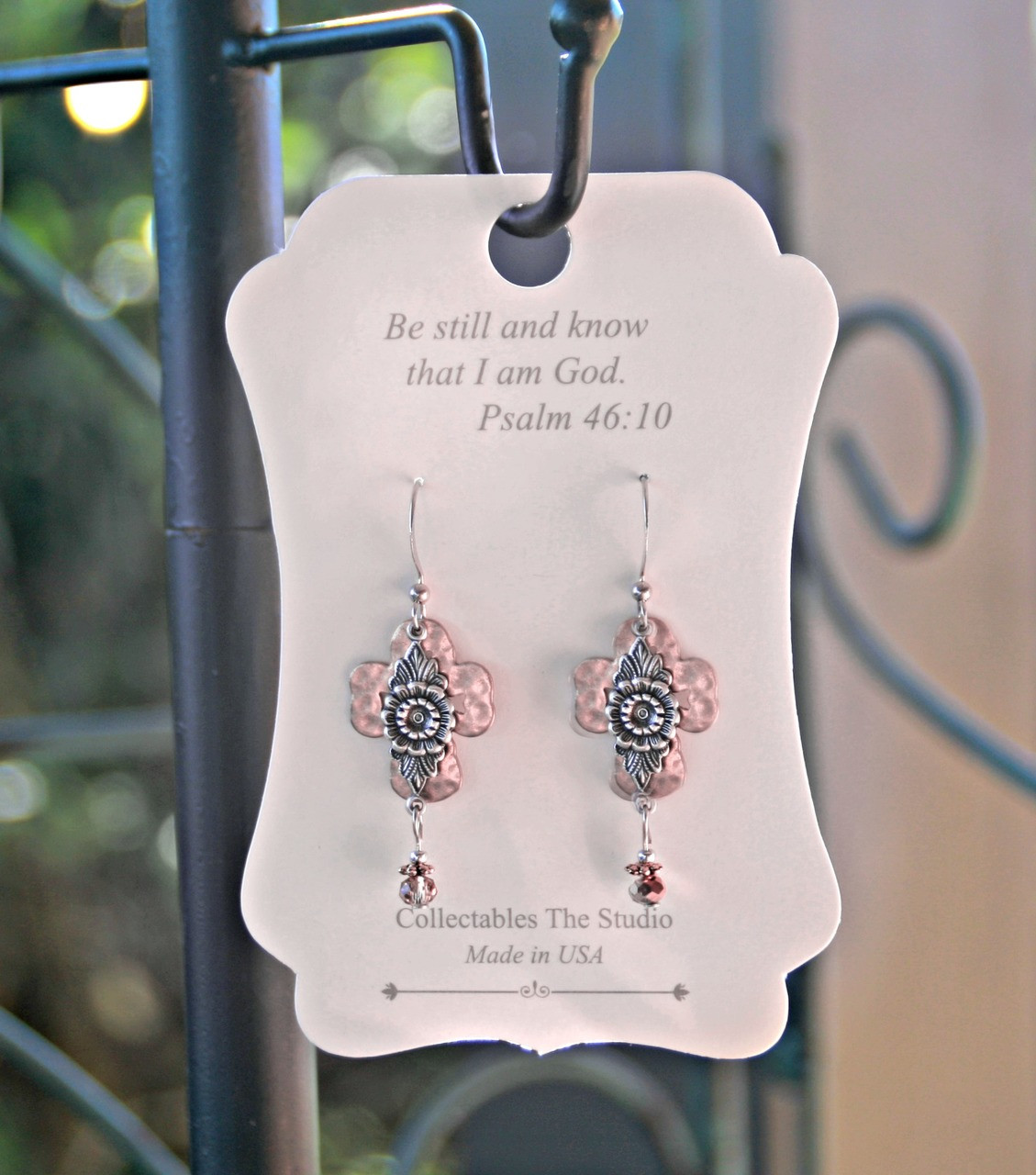 FER-404  Be still and know that I am God Earrings