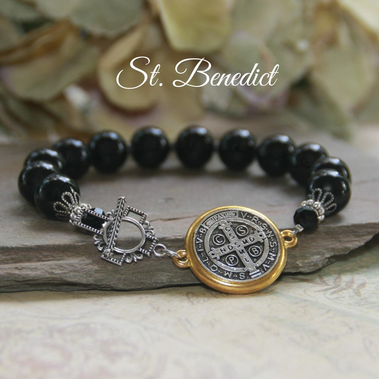 IN-728  St. Benedict Stylish Bracelet