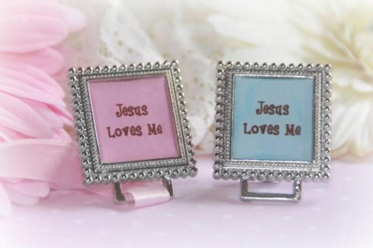 BA-57G Jesus Loves Me for Girl ART Paci Holder