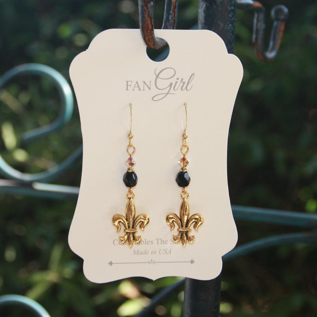 NOST-2  Saints Earrings