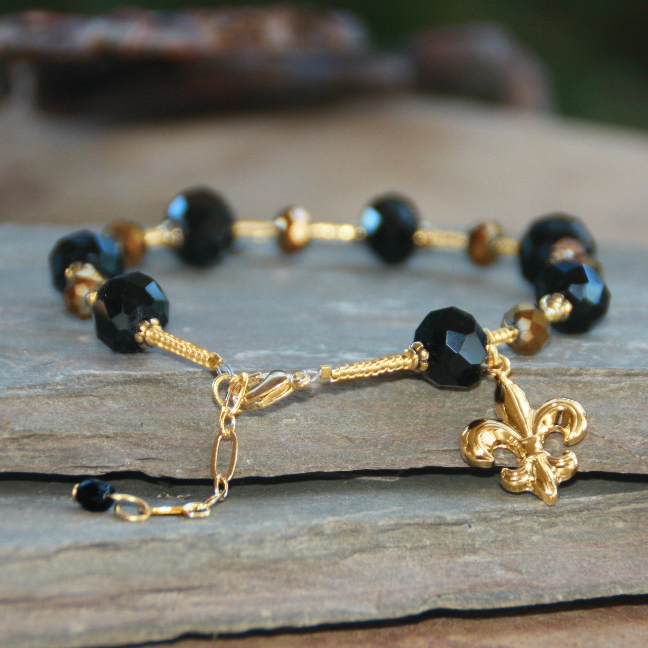NOST-10  Timeless Saints Bracelet with Extension for Larger wrists