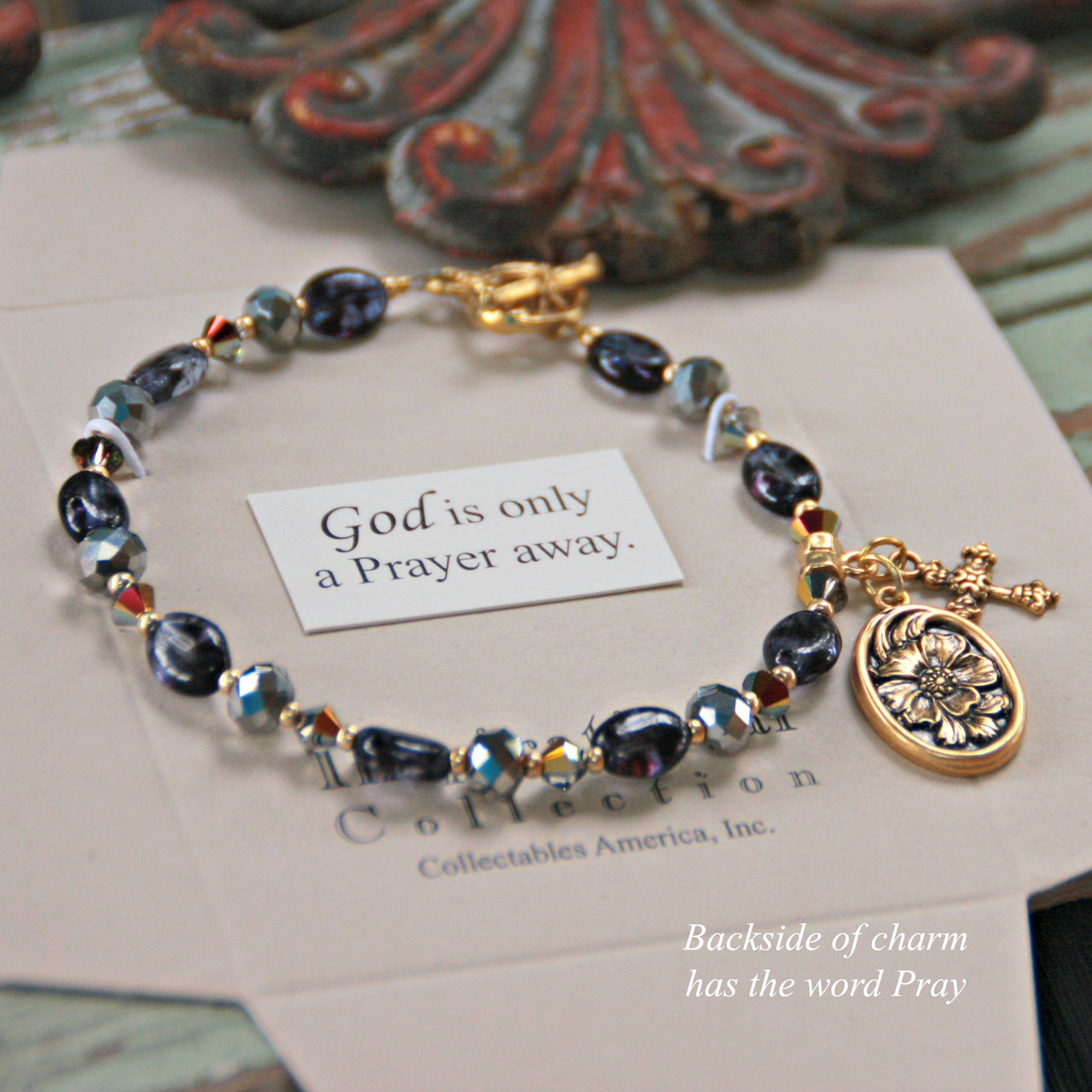 IN-735  God is only a Prayer away Bracelet