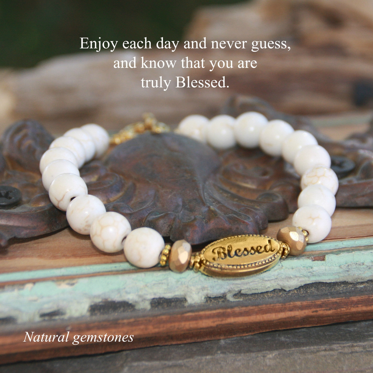 IN-740  Blessed Natural Gemstone Bracelet