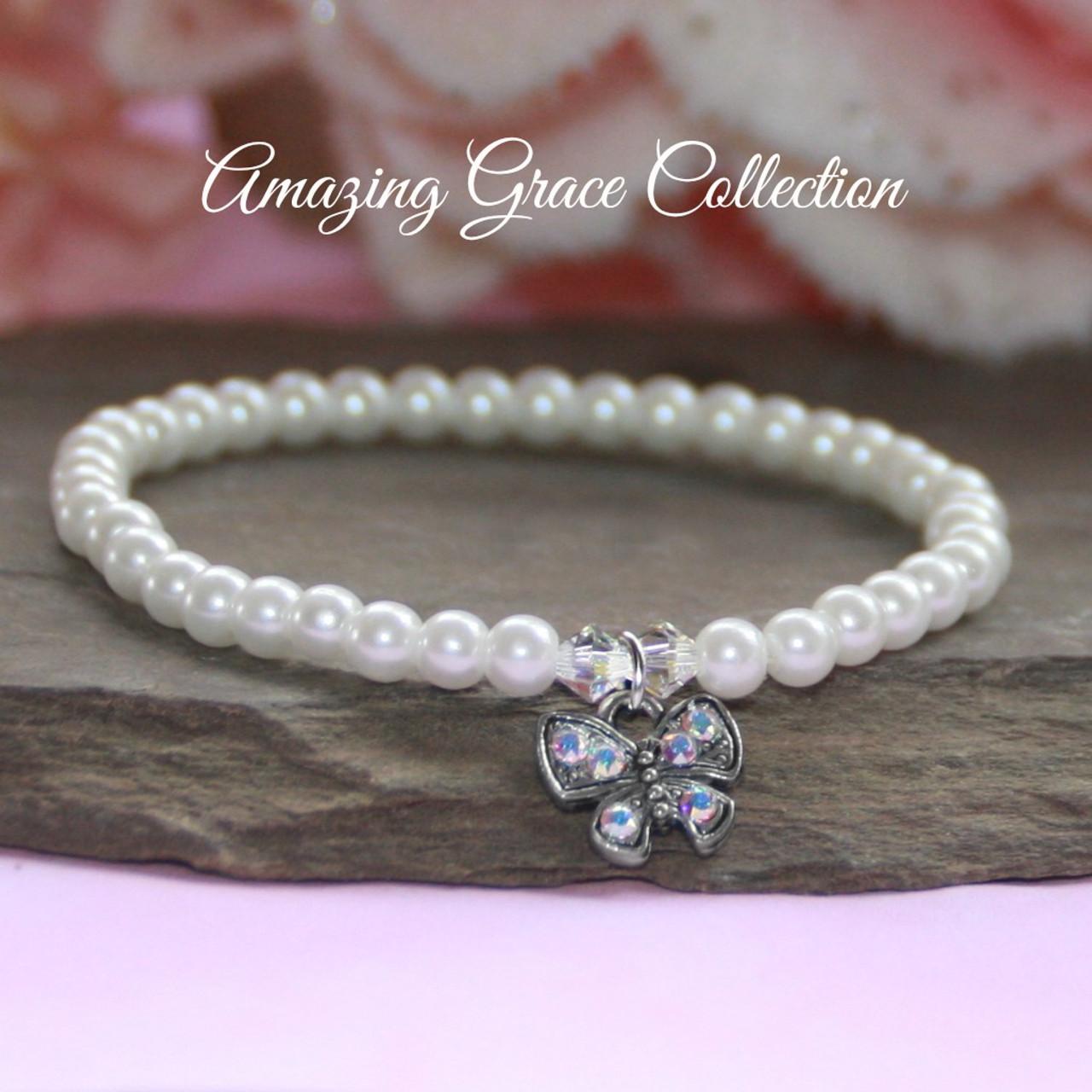 GG-50 Crystal butterfly Amazing Grace Bracelet
