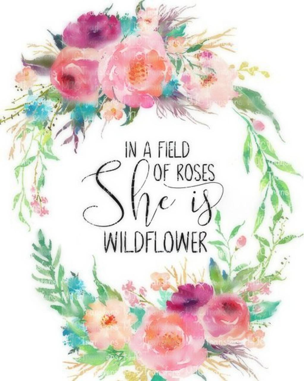 00-93  She is a Wildflower 3-6 months Onesie