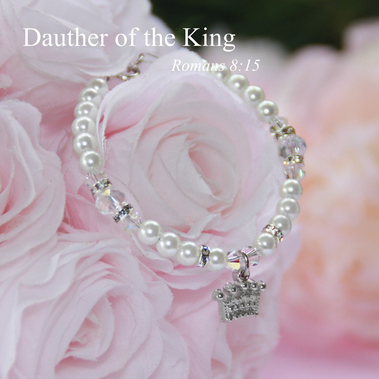 "CJ-571-5  Daughter of the King 5"" Bracelet"