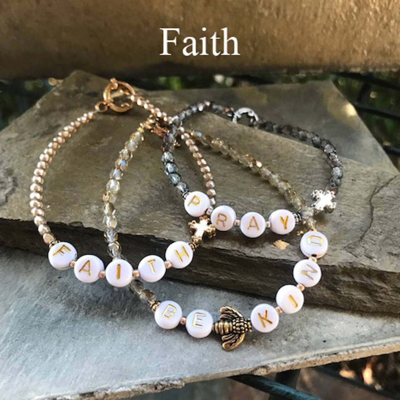 "IN-755 ""Faith"" Beaded Trending 2021 Bracelet"