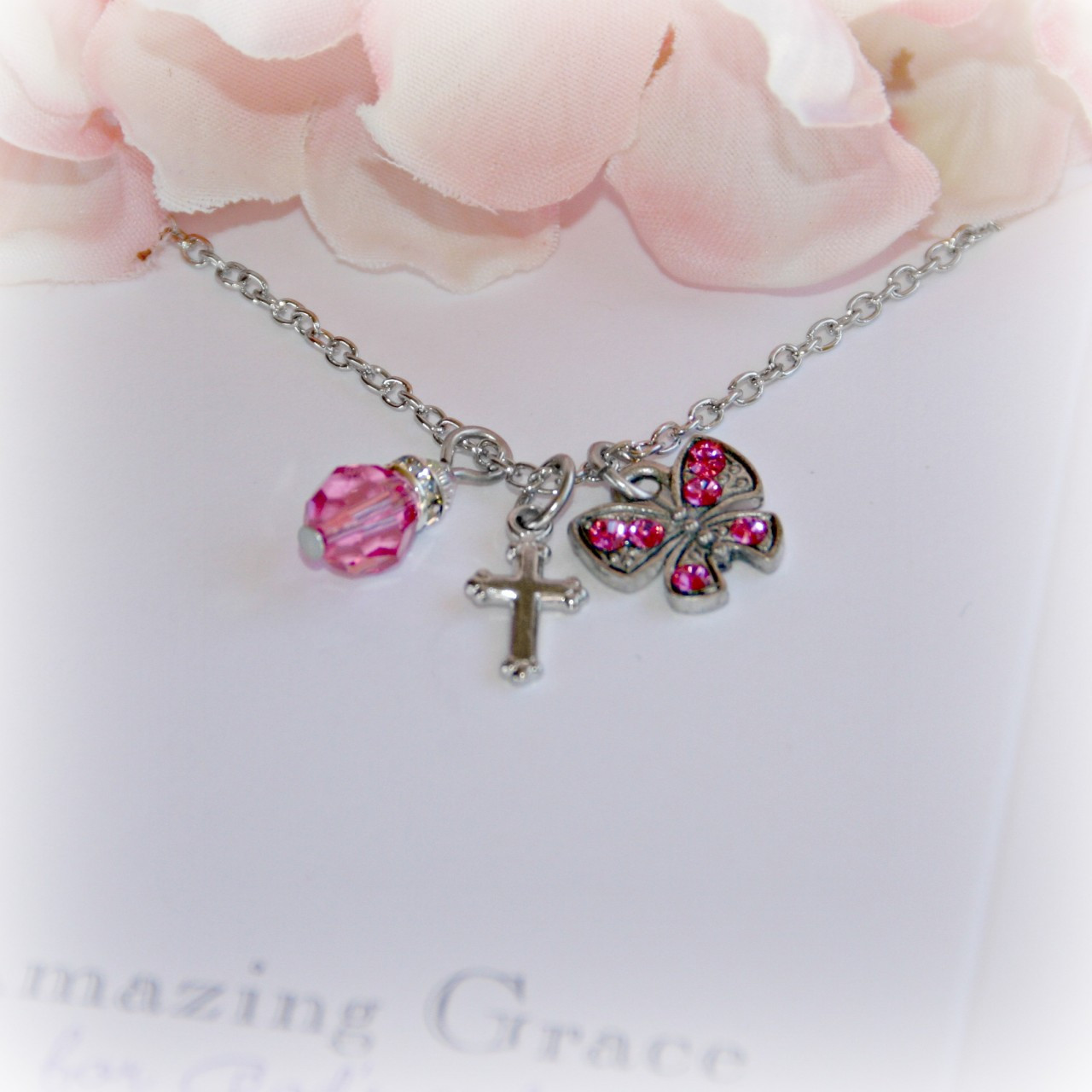 GG-9  Amazing Grace Pink Butterfly