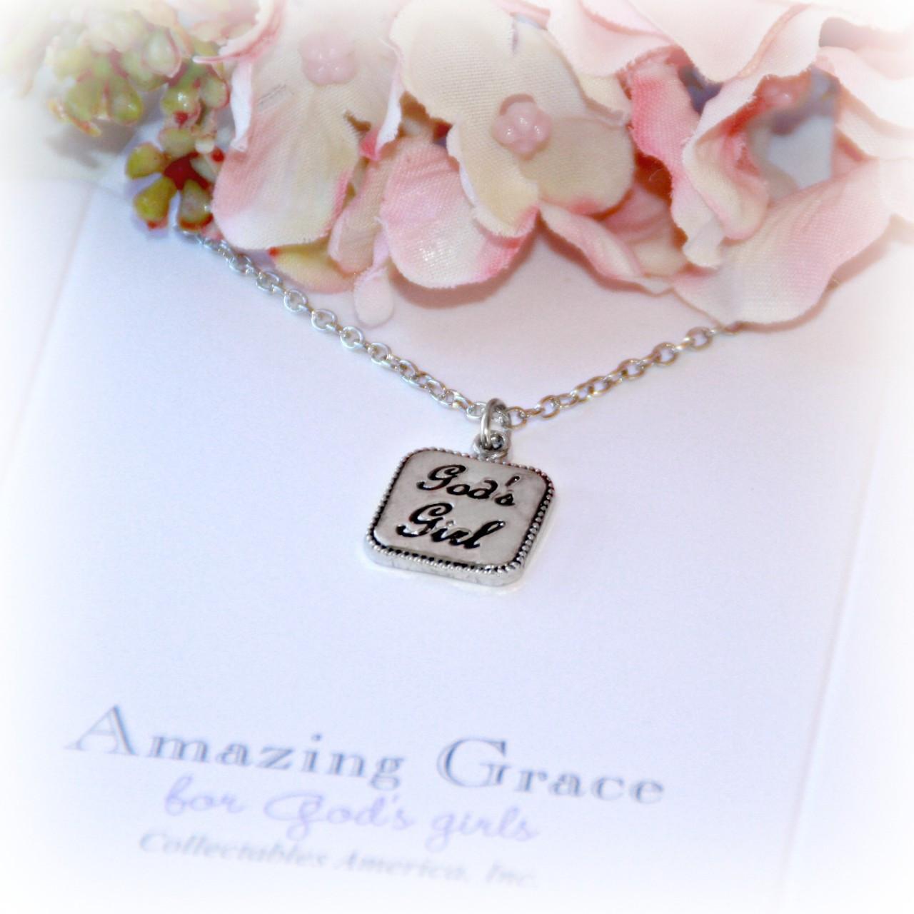 GG-24  Amazing Grace God's Girl Pendant