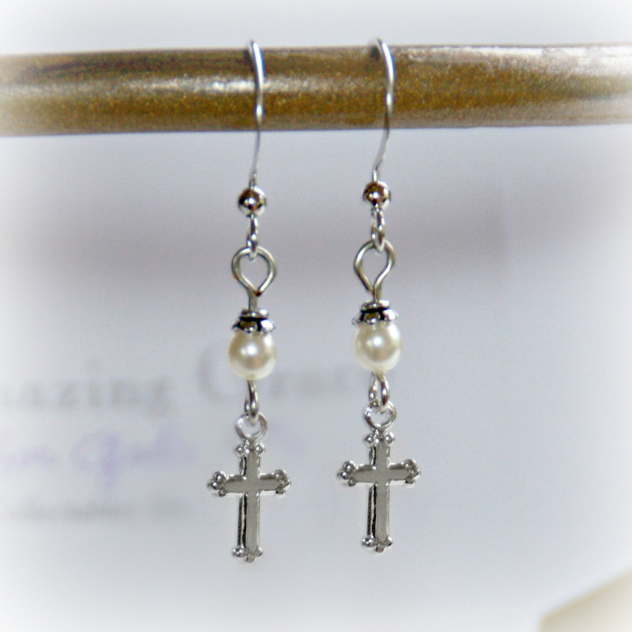 GG-19  Amazing Grace with Pearls Earrings