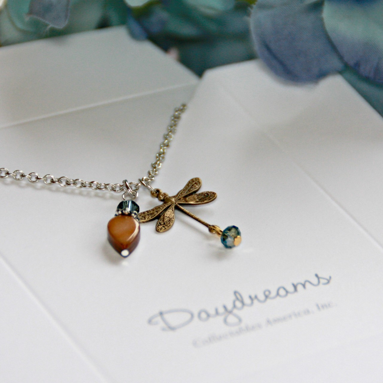 DD-13  Dragonfly Charm Necklace from Daydreams Collection