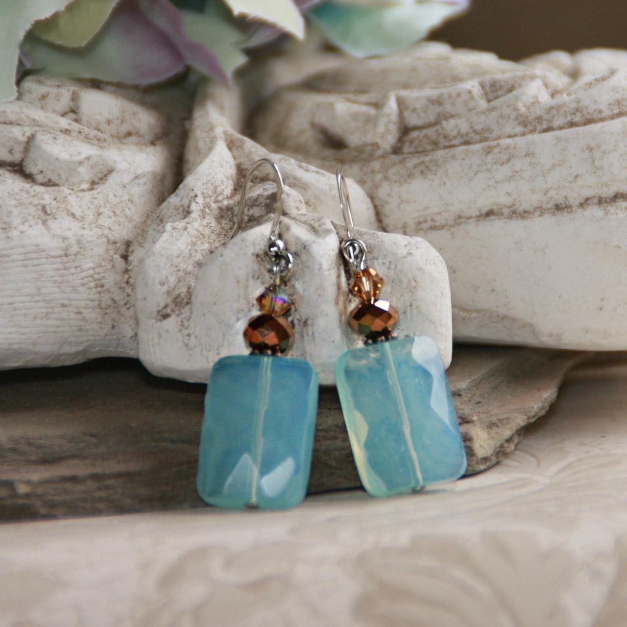 IS-555  Ocean Blue Earrings