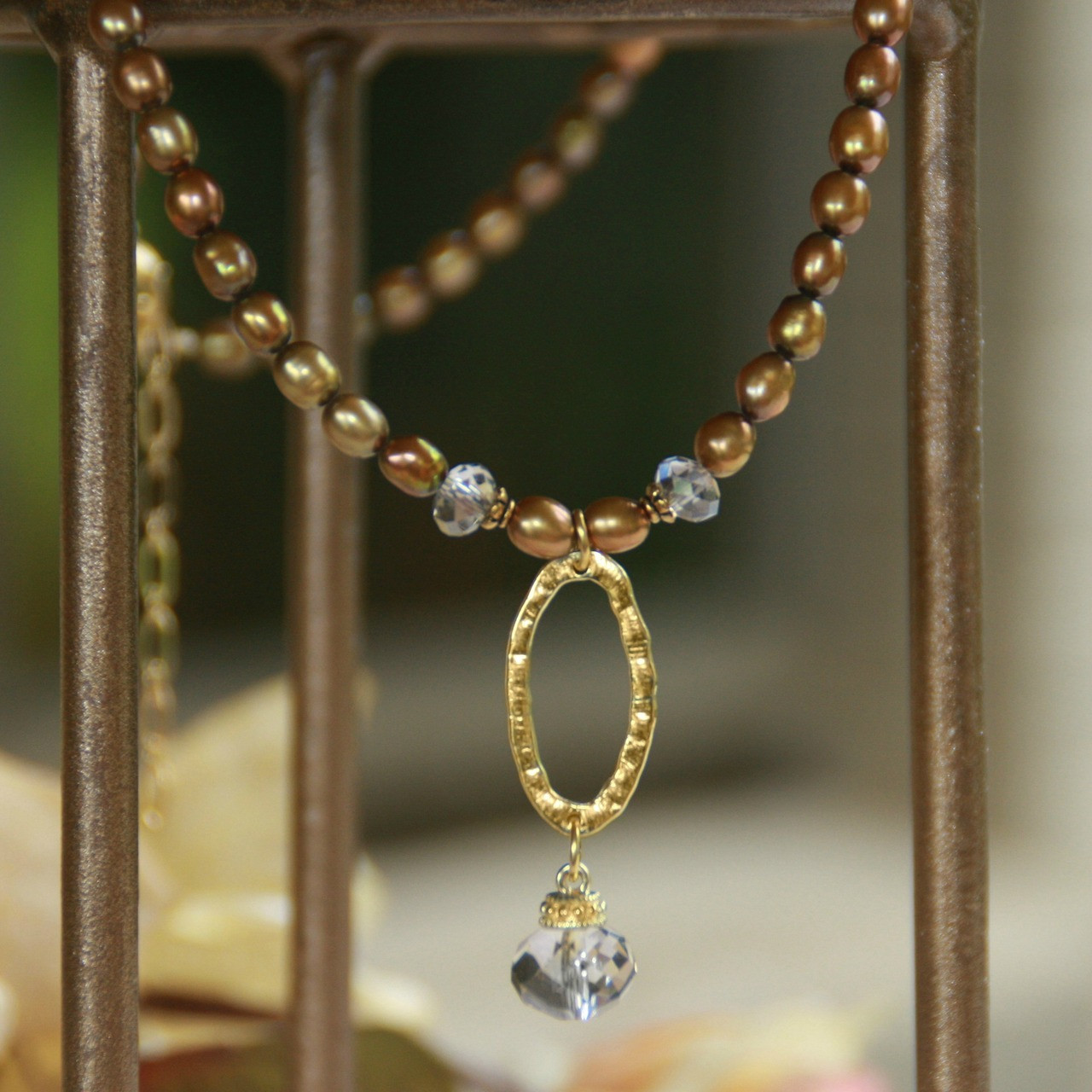 72dc1890836ea6 IS-642 Freshwater Pearls and Oval drop Necklace - Collectables The Studio