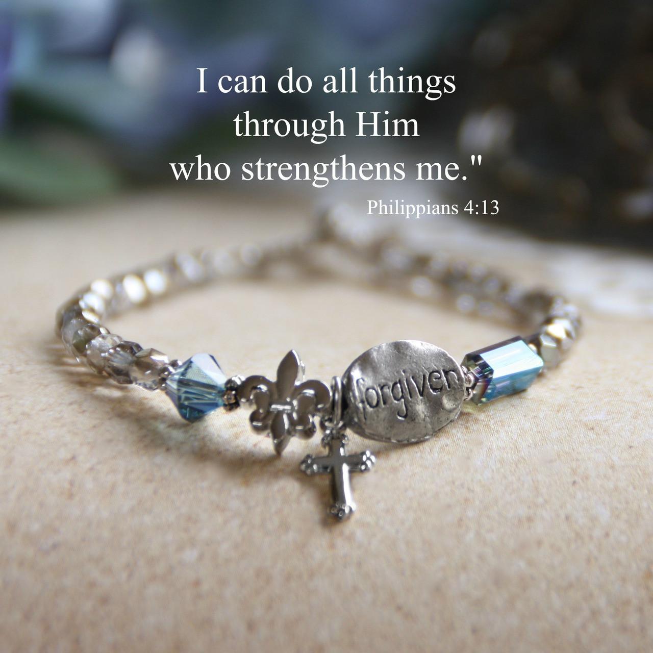 IN-164  Forgiven beaded Bracelet
