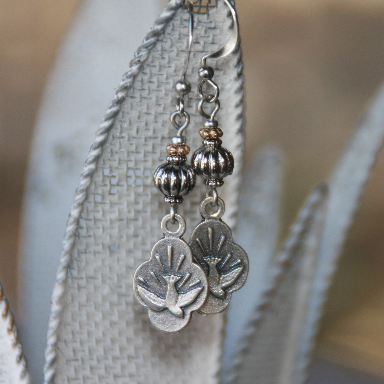 IN-47  Holy Spirit Dove Earrings, I just Love these!
