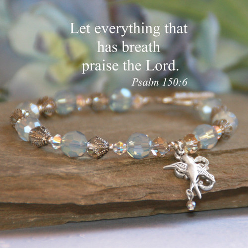 IN-196  Let everything that has breath Beautiful bracelet