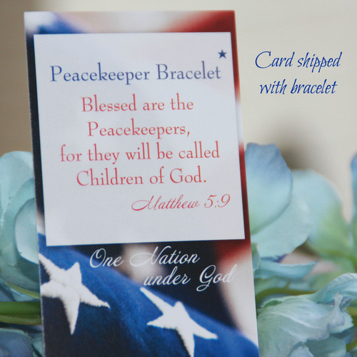 IN-166PK  St. Benedict Peacekeepers Bracelet