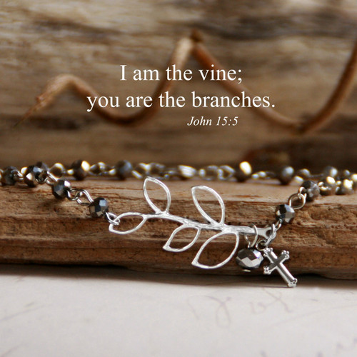 IN-151S  I am the Vine silver finsh Bracelet